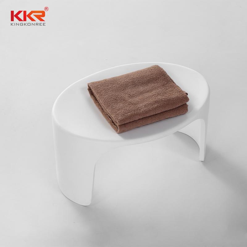 Muebles de baño de tamaño pequeño Taburete de baño de superficie sólida Taburete KKR -D