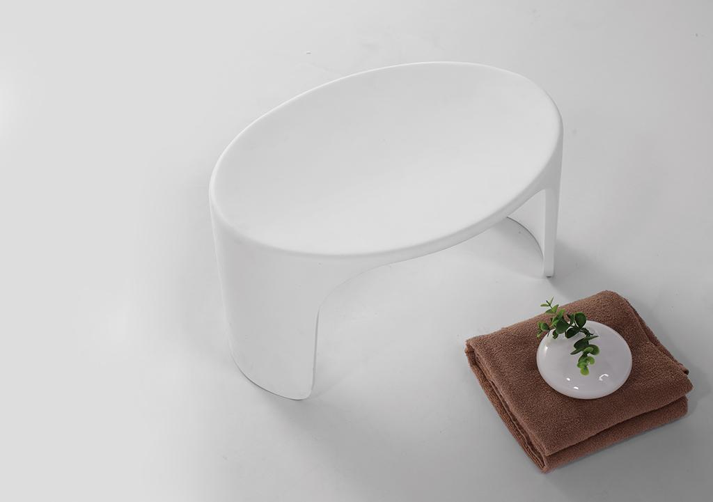KingKonree pure plastic shower stool customized for hotel-1
