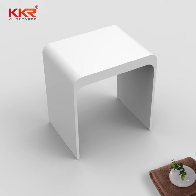 Sanitary Ware Solid Surface Acrylic Stone Bathroom Stool KKR-Stool-H