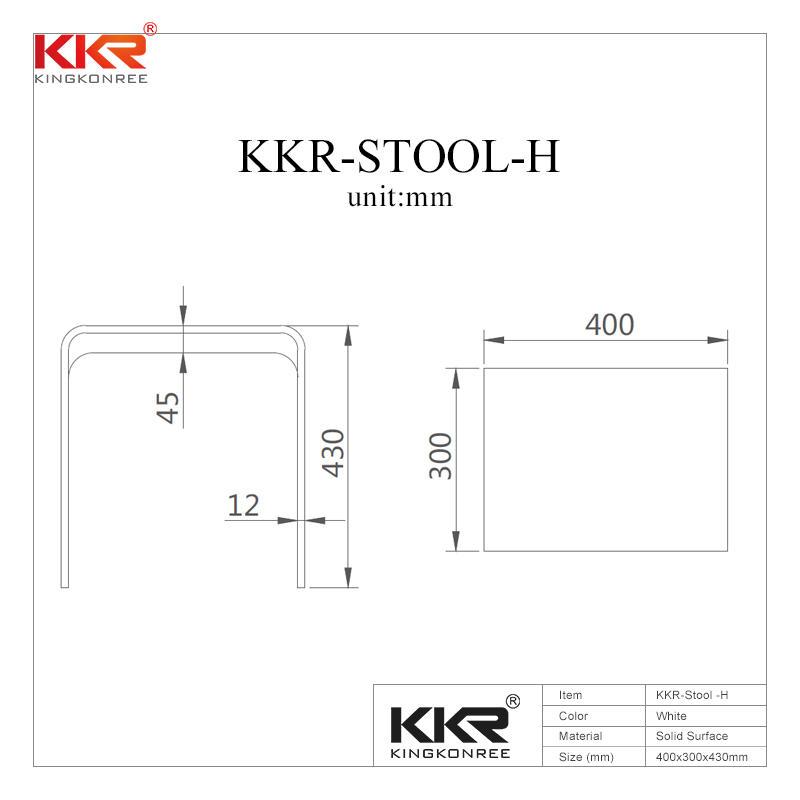Sanitario de superficie sólida de piedra acrílica taburete de baño KKR-Stool-H