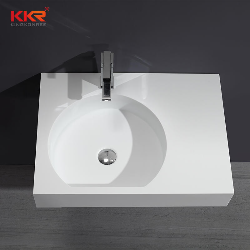 660x480mm Acrylic Resin Stone Solid Surface Wall Mounted Wash Basin KKR-1343