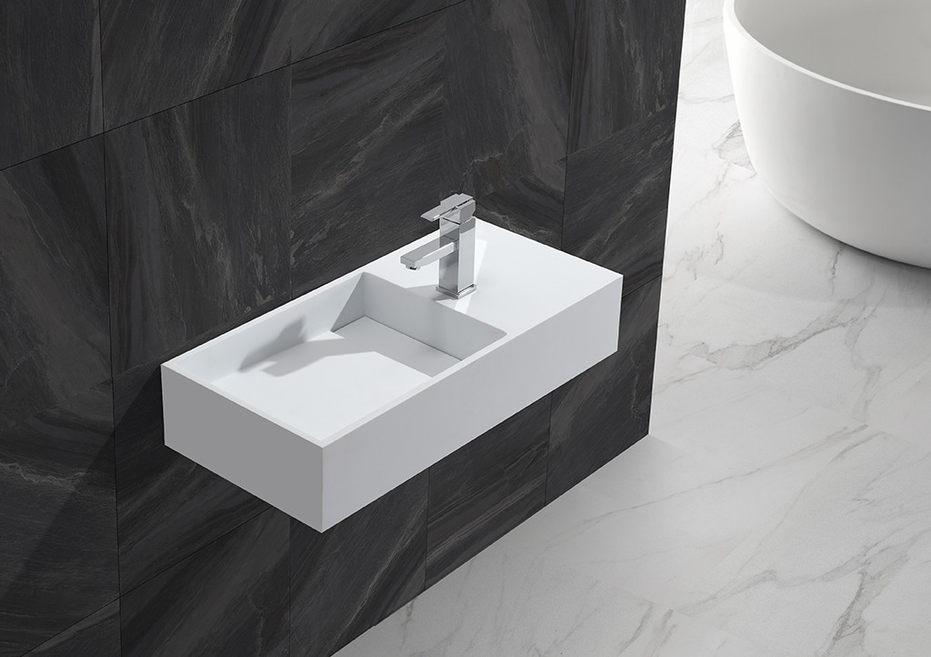 sturdy wall hung basin sink for bathroom-1