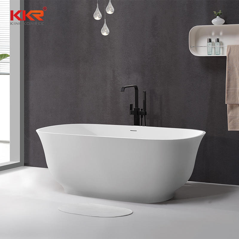 Hot Sale Luxury Bathroom Acrylic Freestanding Solid Surface Bathtub KKR-B090