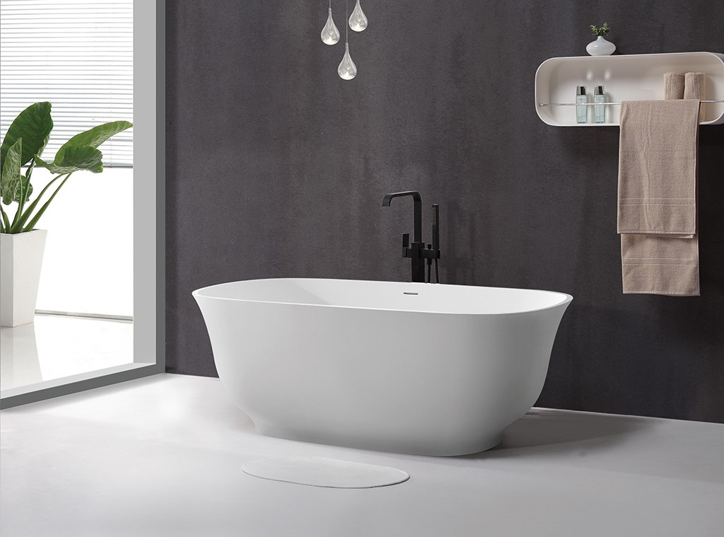matt round freestanding bathtub at discount for hotel-1