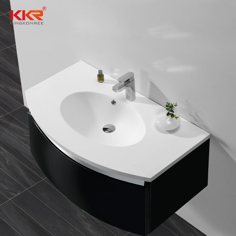 Solid Surface Cabinet Wash Hand Basin with CE Cheap Bathroom Sink KKR-1522