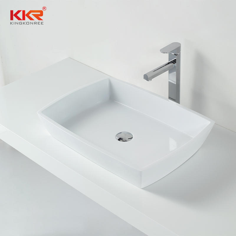 High Quality Solid Surface Stone Cast Above Counter Top Wash Basin/Bathroom Sink KKR-1316