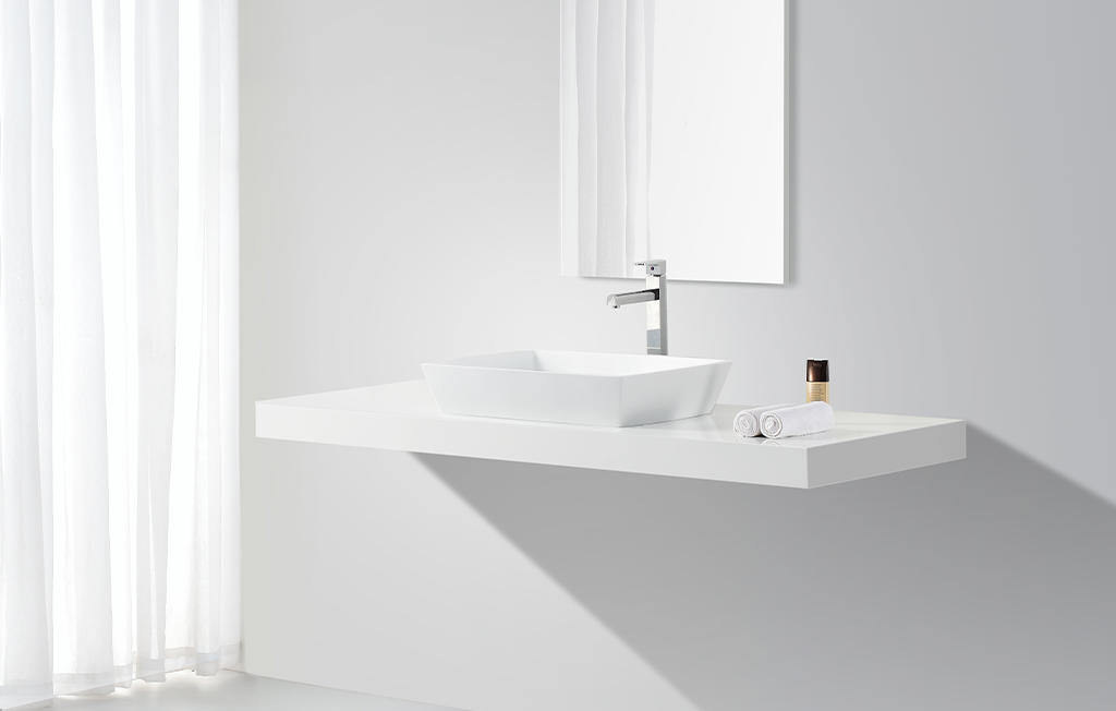 durable solid surface sink top-brand for shower room