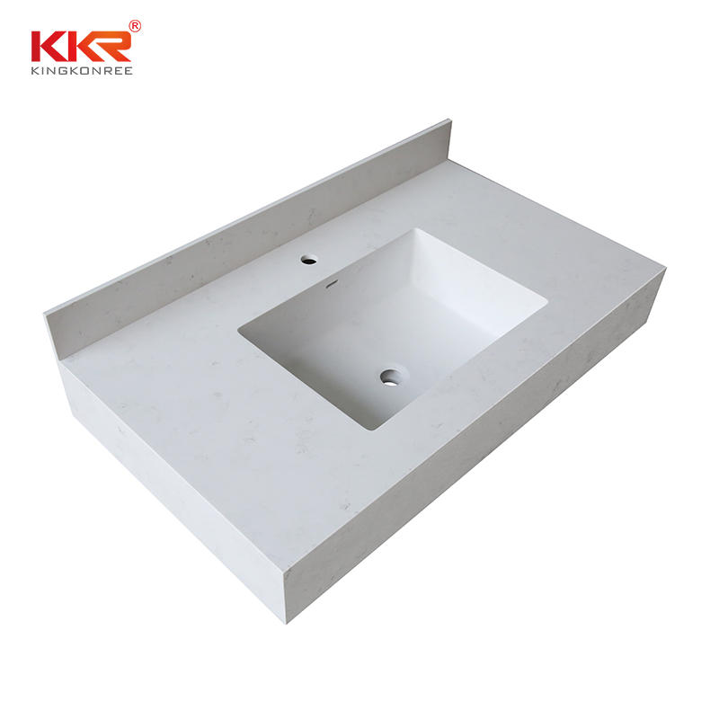Customized wall hung basin solid surface wall mounted bathroom sink wash basin