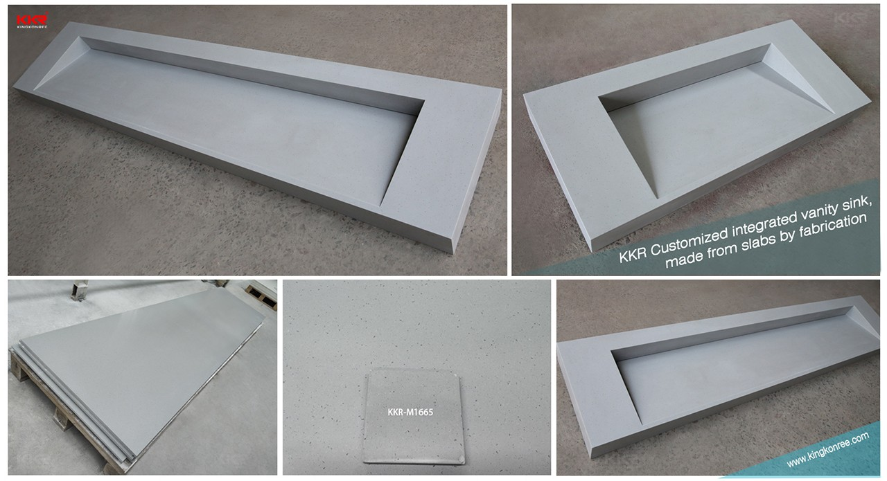 KingKonree durable custom vanity tops sink for home-1