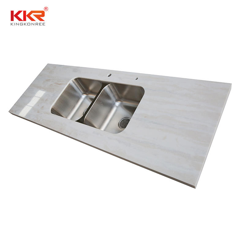 Texture Marble  Artificial Stone Countertop Rectangular Marble Table Tops Kitchen Worktops