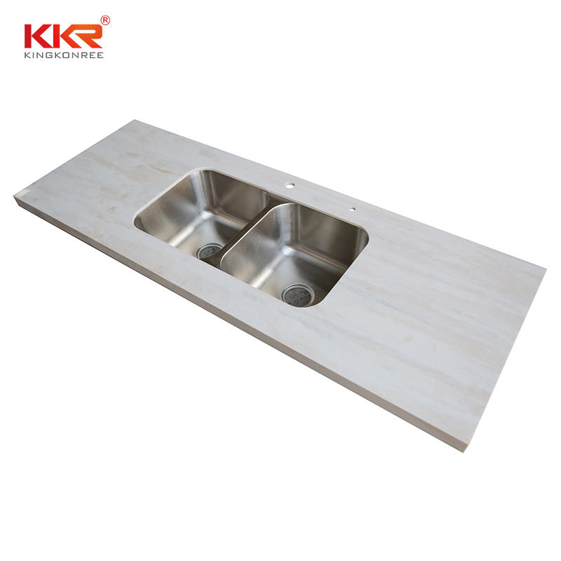 Texture Marble  Artificial Stone Countertop Rectangular Marble Table Tops Kitchen Worktops