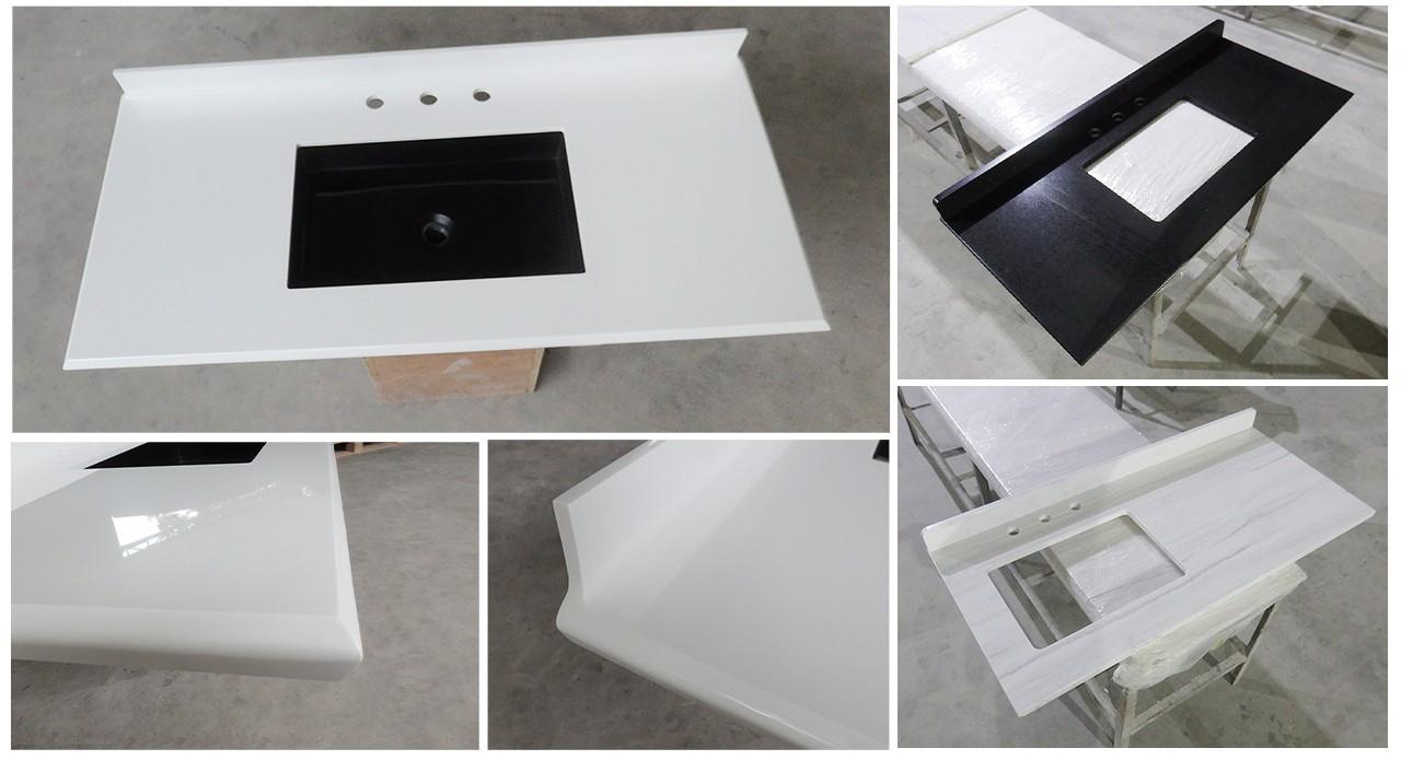 artificial acrylic countertops under-mount for motel-1