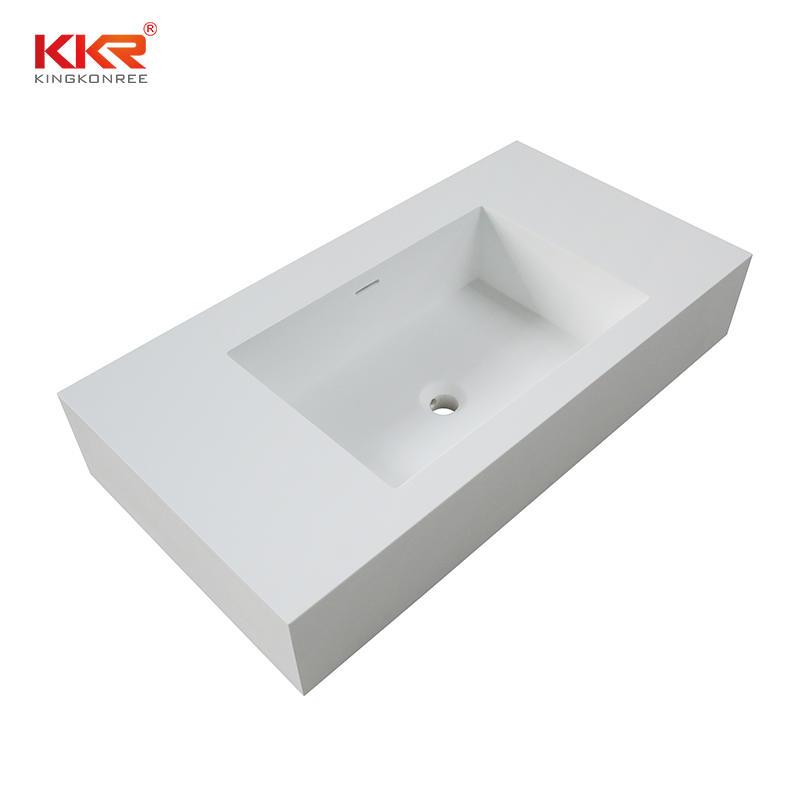Italian design wall hung white bathroom vanity top