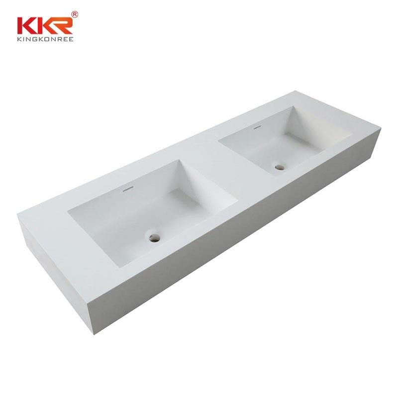 Italian design wall hung white bathroom vanity top