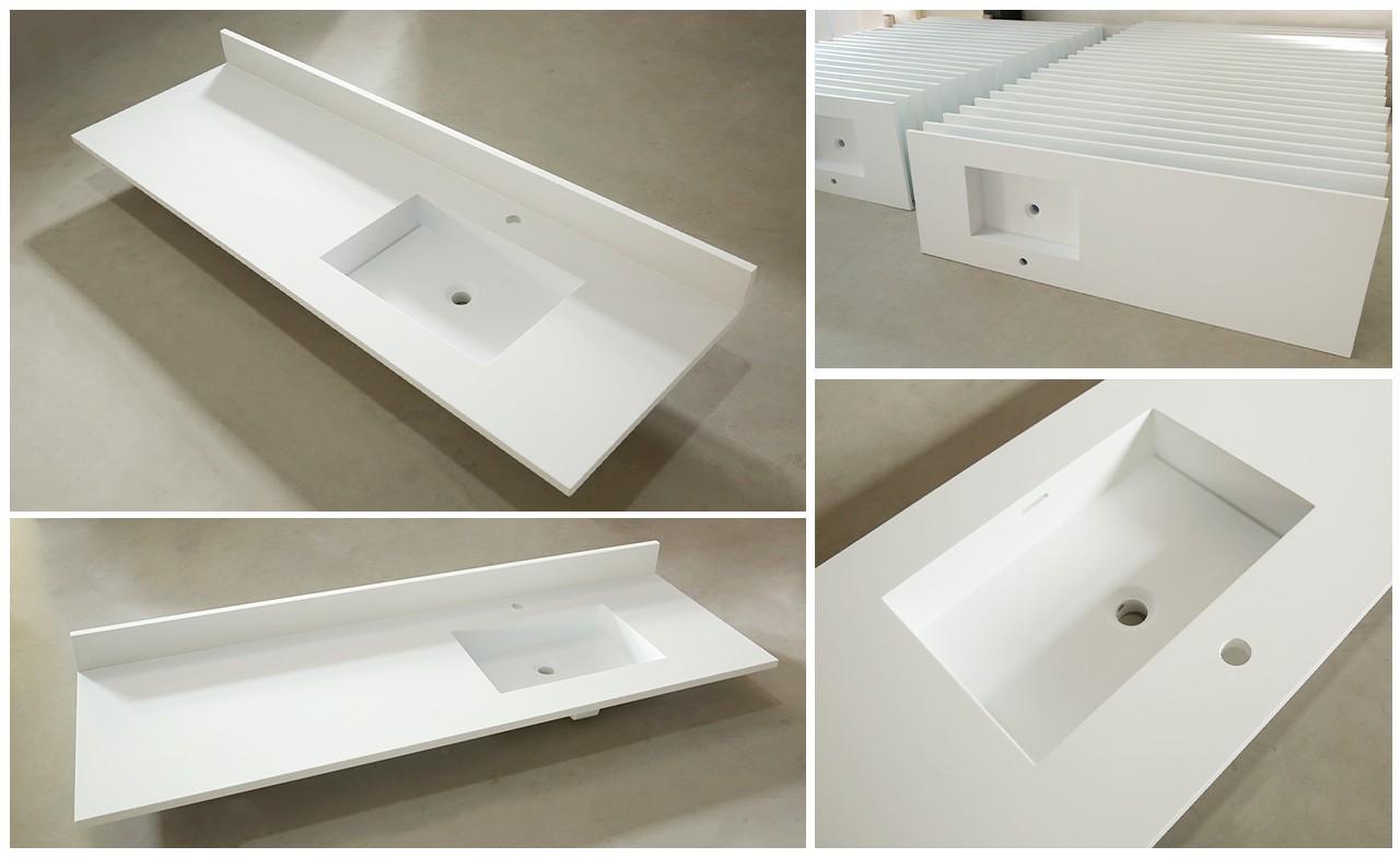 KingKonree artificial solid surface bathroom countertops customized for hotel-1