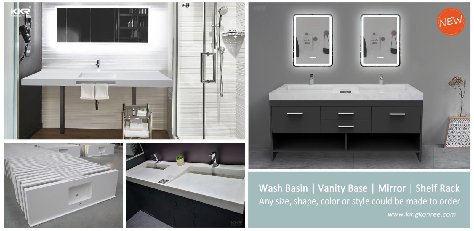 KingKonree artificial solid surface bathroom countertops supplier for bathroom-1