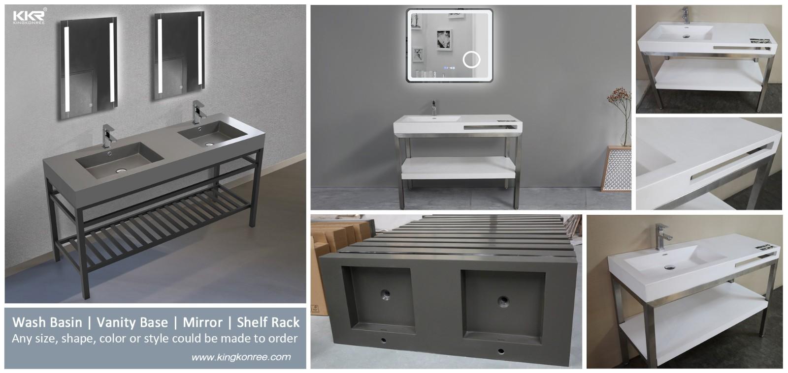 KingKonree solid stone countertops manufacturer for bathroom-1