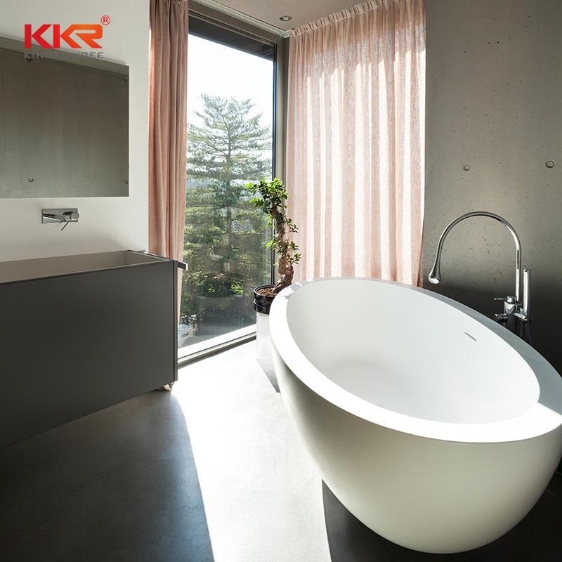 KKR Artificial Resin Stone Freestanding Solid Surface Bath UPC Stone Tub Bathroom Wares KKR-B048