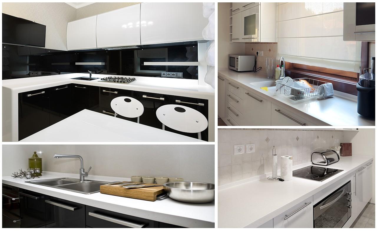 elegant solid surface kitchen worktops high-qualtiy for home-1