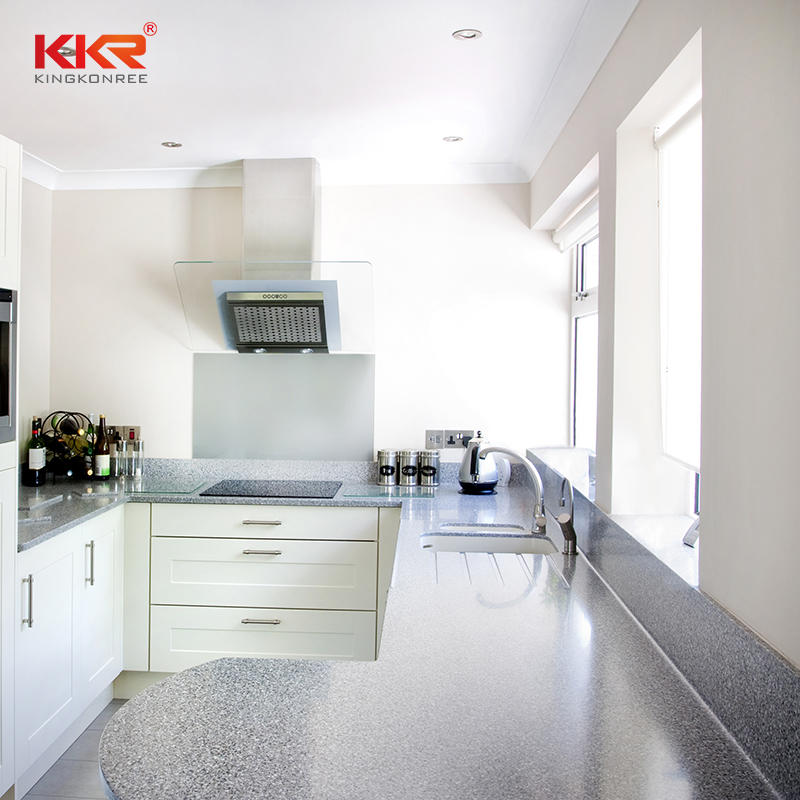 acrylic solid surface kitchen top KKR kitchen countertops solid surface worktop