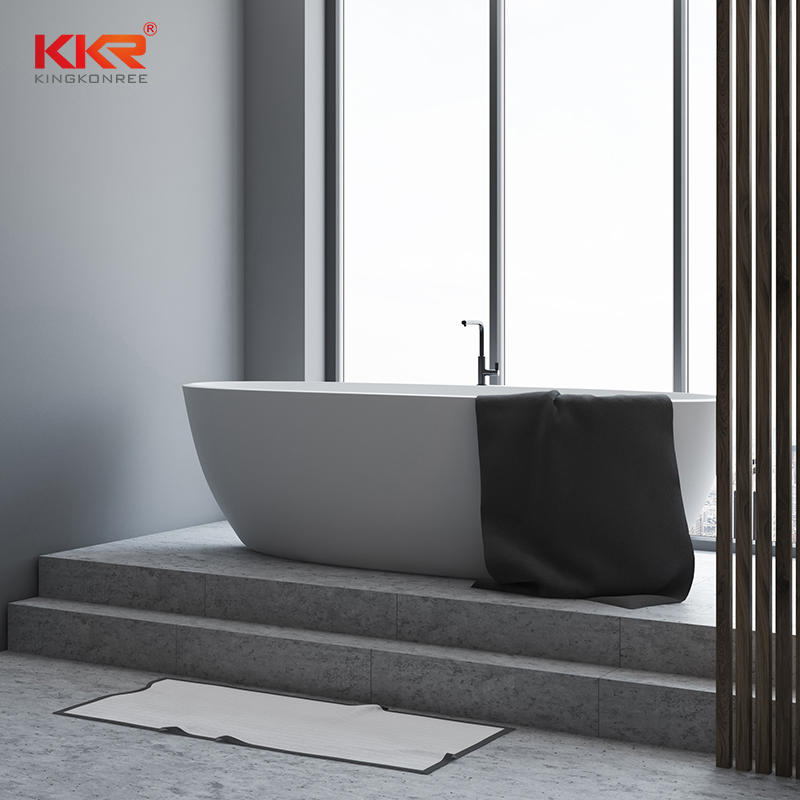 Modern Stone BathTub And Solid Surface Freestanding Bathtub KKR - B003