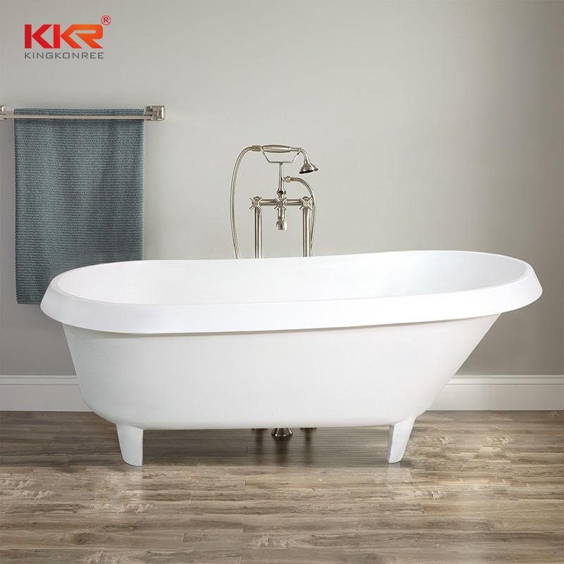 KKR luxury freestanding solid surface bathtub with four claw feet B094