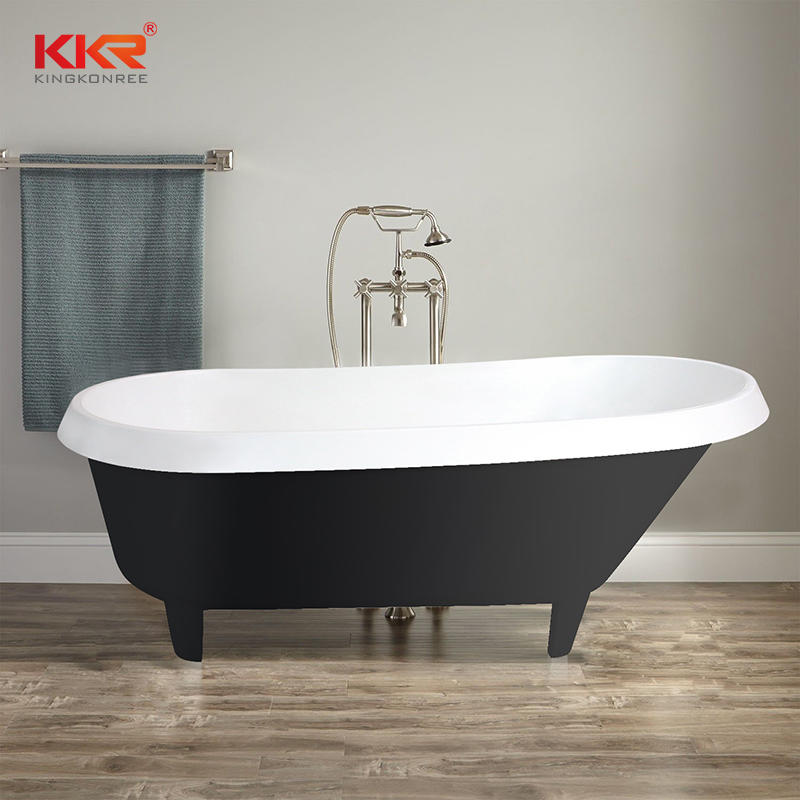 KKR luxury freestanding solid surface bathtub with four claw feet B094