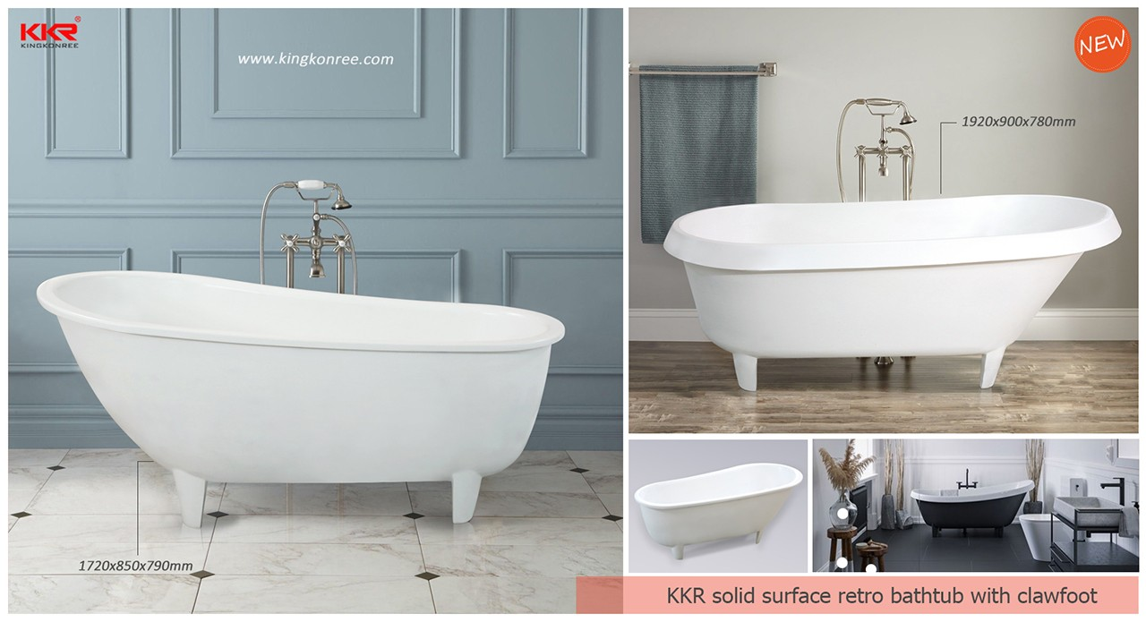 KingKonree hot selling free standing soaking tubs OEM for bathroom-11