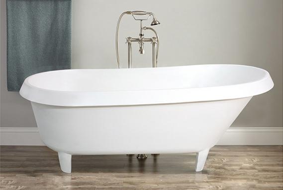 KingKonree hot selling free standing soaking tubs OEM for bathroom-1