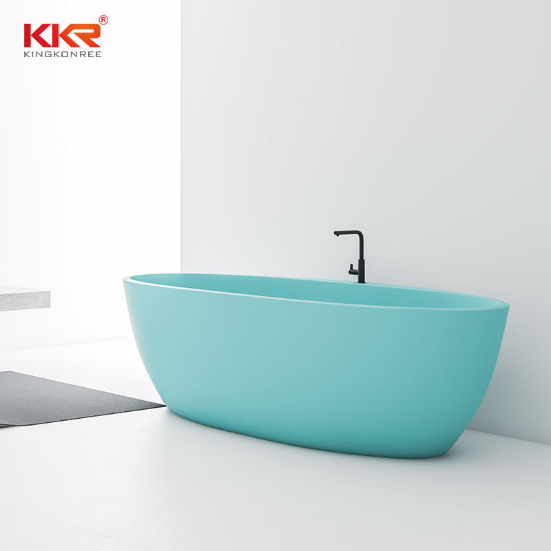 KKR Light Blue Bathroom Freestanding colorful solid surface bathtub