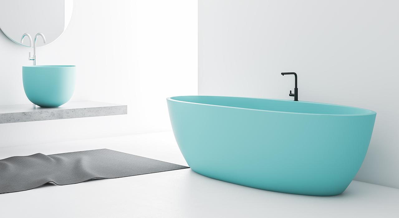 marble acrylic freestanding tub OEM for bathroom-1