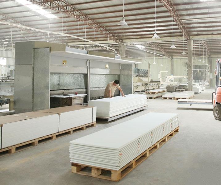 KingKonree white solid stone countertops under-mount for hotel-24