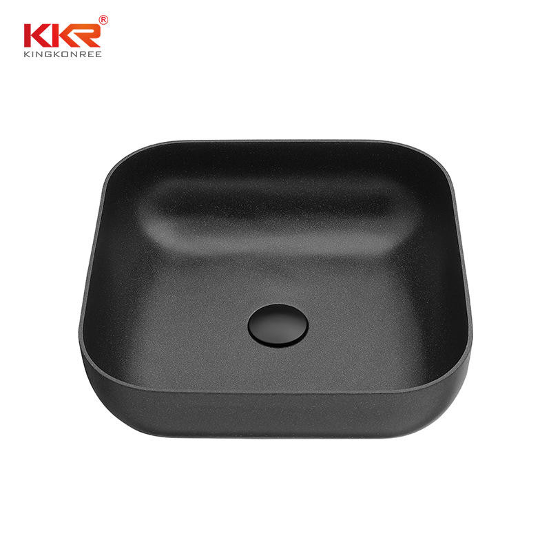 Scratch-resistant high quality quartz stone material wash hand sink bathroom basin KKR-QS161601