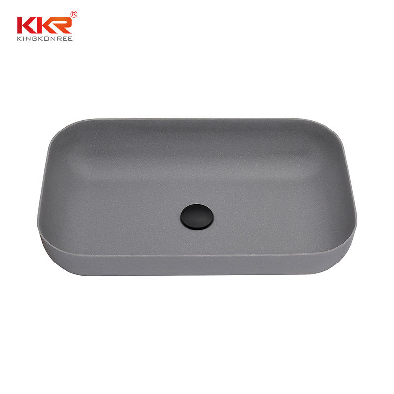 Domestic High Hardness Quartz Stone Kitchen Sink Bathroom Basin Mable Color Sink  KKR-QS2415