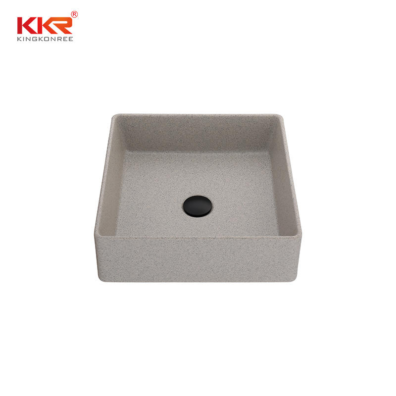 Family Home Quartz Stone Kitchen Sink Bathroom Basin Mable Color Sink