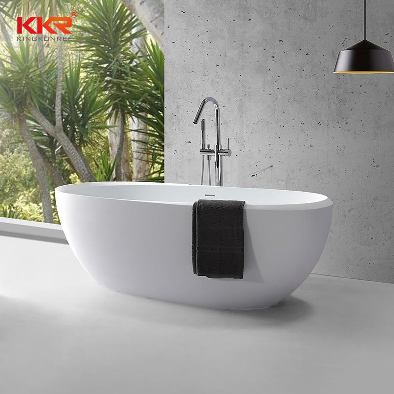 Eco-friendly freestanding bathtub solid surface bathtub
