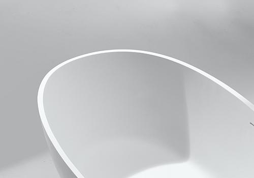 KingKonree white stone resin bath OEM for hotel-5