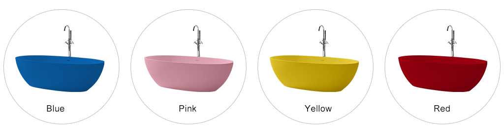 KingKonree white stone resin bath OEM for hotel-8