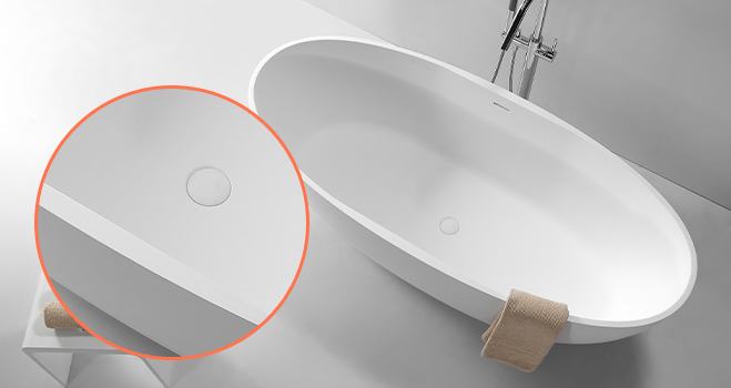 KingKonree white stone resin bath OEM for hotel-2
