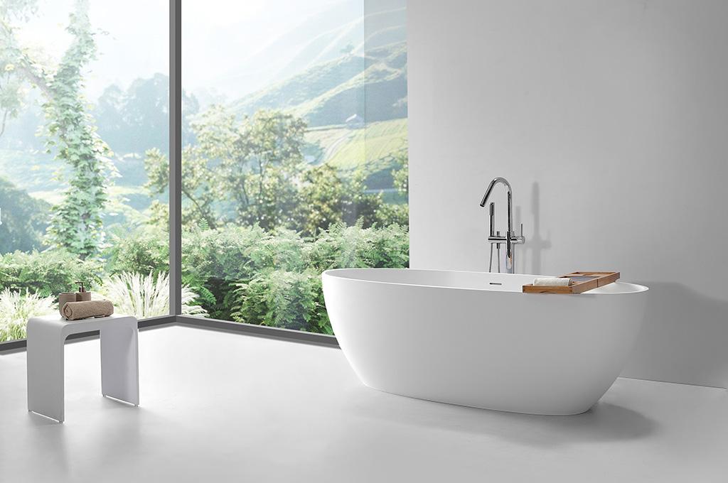 KingKonree white stone resin bath OEM for hotel-1