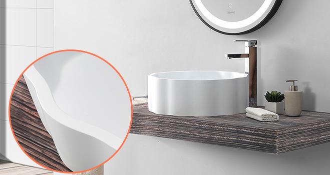 KingKonree top mount bathroom sink customized for restaurant-5
