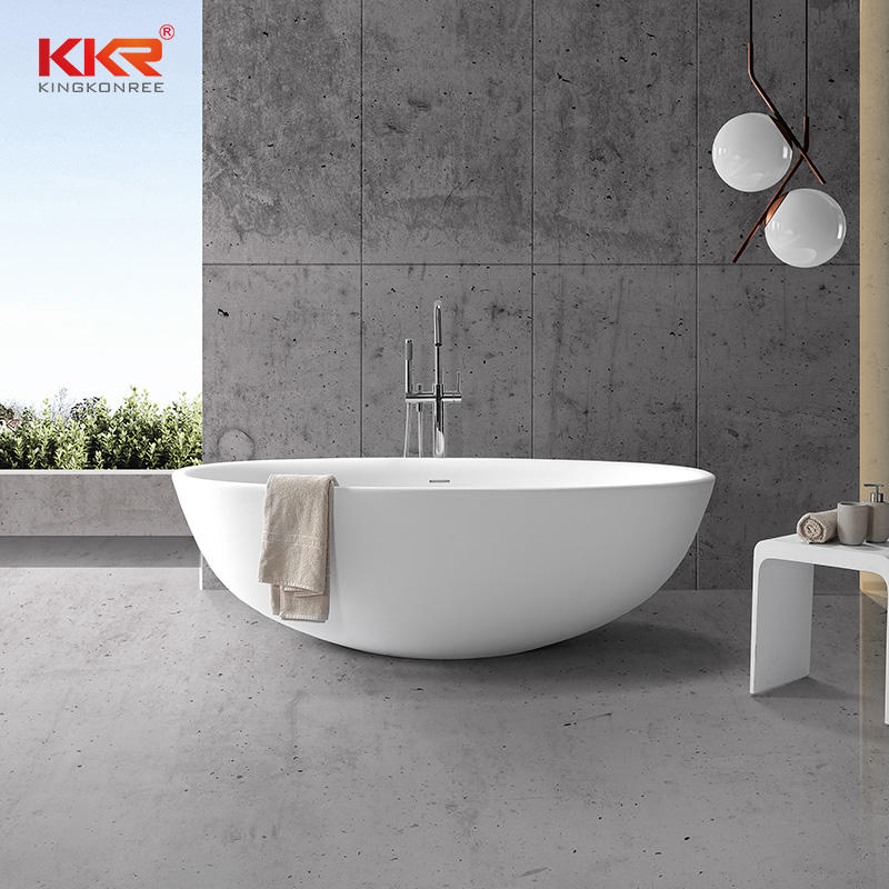 New 2020 Trending Products Solid Surface Freestanding Bathtub KKR-B093