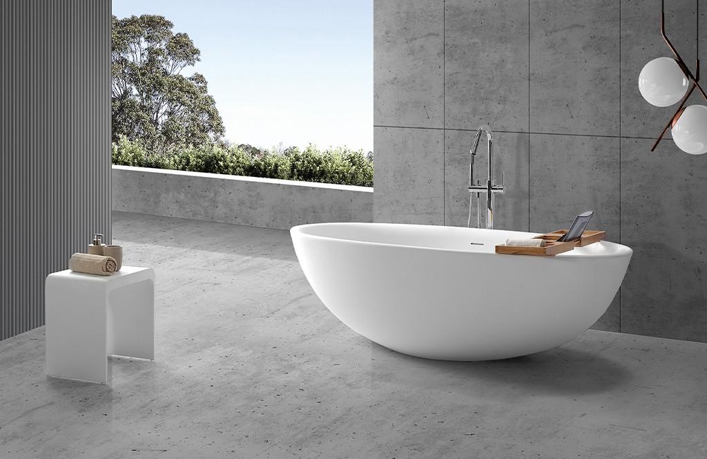 KingKonree round freestanding bathtub OEM for hotel-1