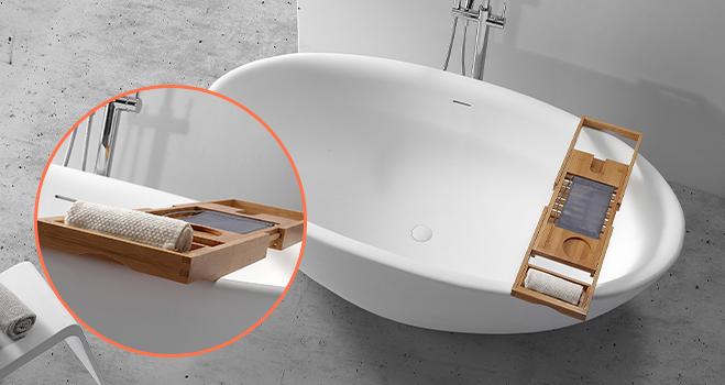 KingKonree round freestanding bathtub OEM for hotel-2