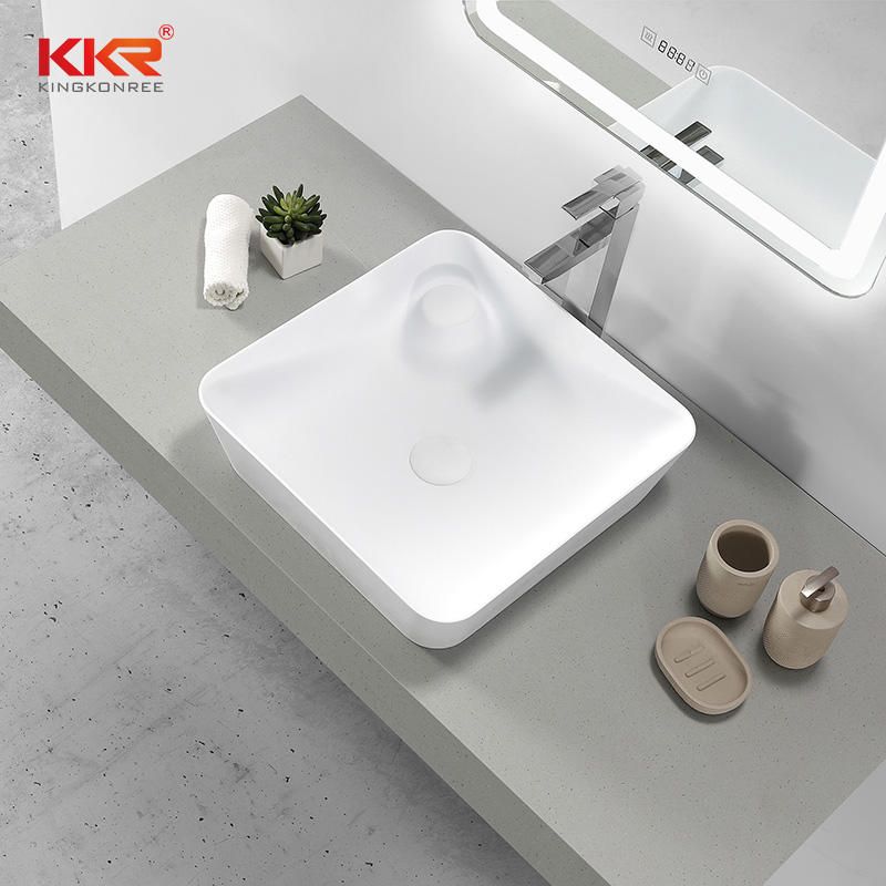 Countertop Table Top Basin Solid Surface Rectangular Wash Basin