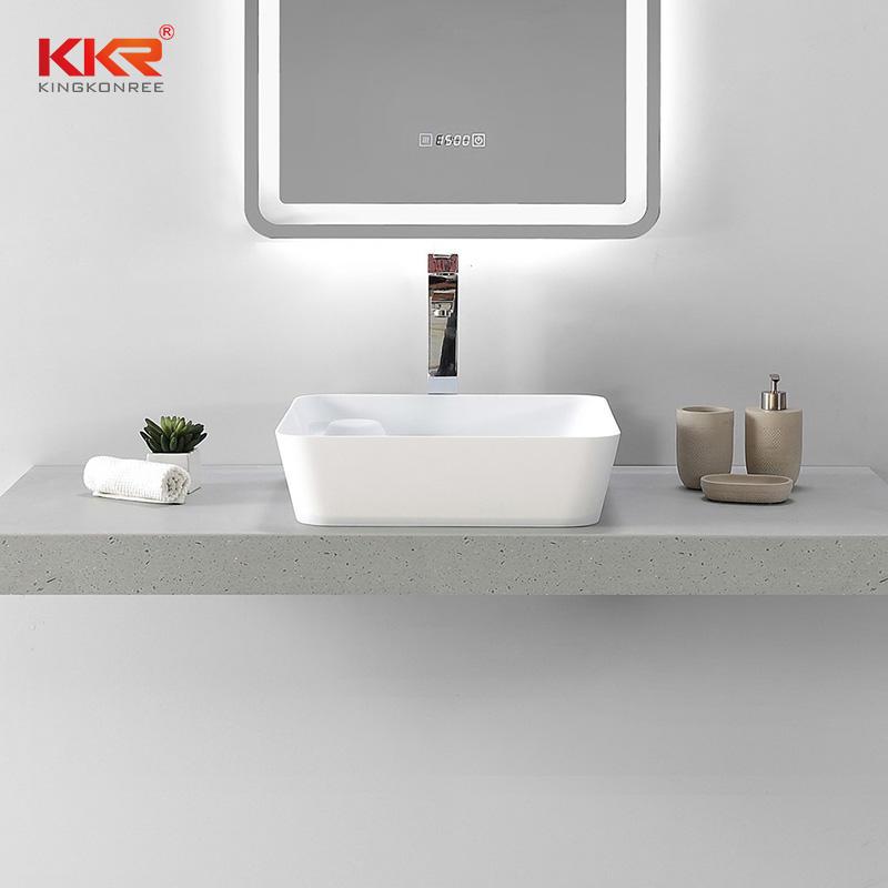 Countertop Table Top Basin Solid Surface Rectangular Wash Basin