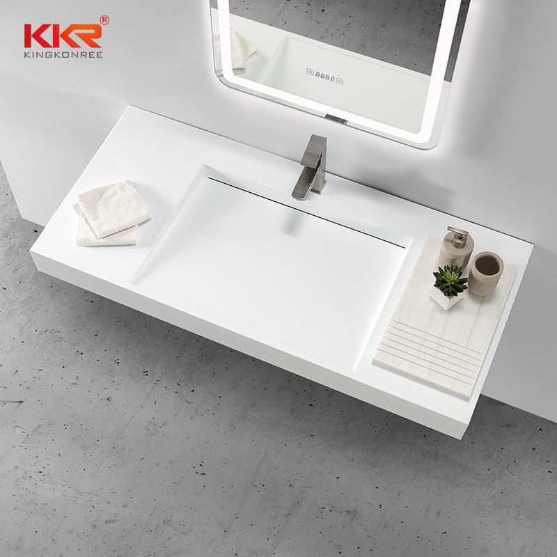 Luxury Design Small Slope Wall Hung Wash Basin Artificial Stone Sink