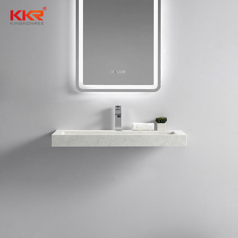 Hot Sales Europe Design Small Slope Solid Surface Wall Hung Basin