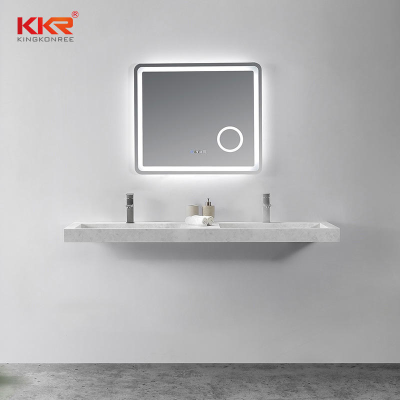 Marble Color Luxury Design Double Sink Small Slope Wall Hung Basin