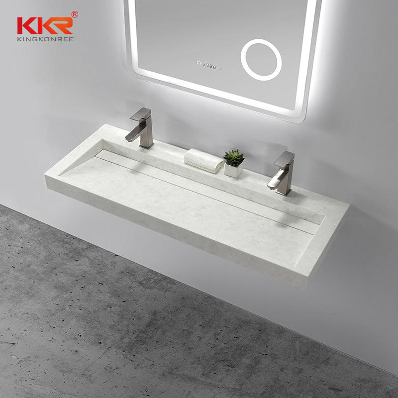 Bathroom Furniture European Design Small Slope Wall Hung Wash Basin